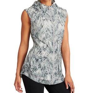 EUC Athleta Inspire Gray sheer nylon vest XS